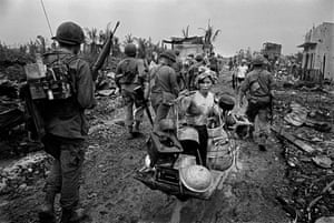 Saigon, 1968Refugee from US Bombing in the battle for Saigon, Vietnam