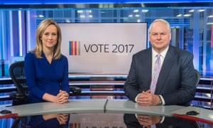 Sophy Ridge and Adam Boulton will present Sky News' election night show Vote 2017.