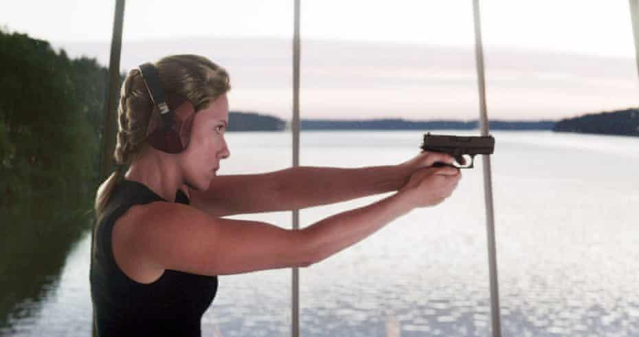 Scarlett Johansson as Natasha Romanoff/Black Widow in Avengers: Endgame.
