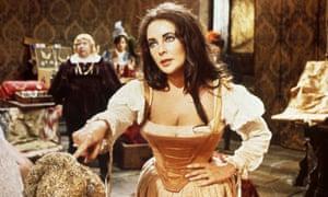Elizabeth Taylor in Zeffirelli's film of The Taming of the Shrew, 1967.