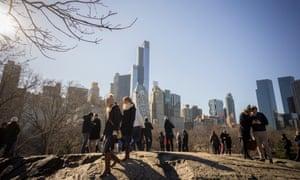 New York skyline seen from Central Park