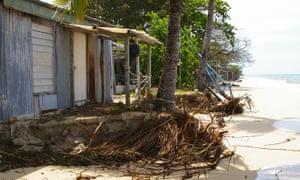Erosion on Masig island