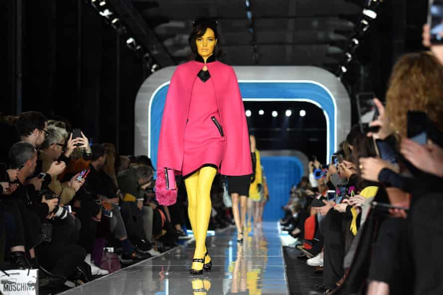Moschino's show was based on a conspiracy theory involving aliens, Marilyn Monroe and the Kennedys.