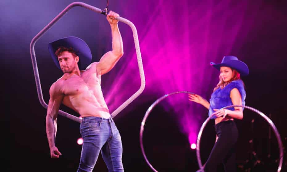 Spiegelworld's Atomic Saloon Show, a circus-variety show 'set in a Wild West neon disco'.
