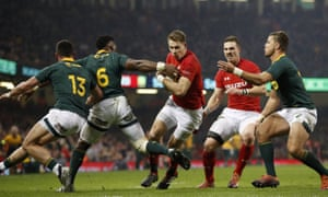 Liam Williams scores the second try for Wales in their home victory over South Africa.