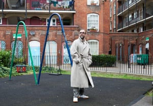 Turner prize-winning artist Mark Leckey, photographed outside his home in Holloway, north London.