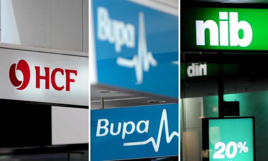 NIB and Bupa and HCF signs