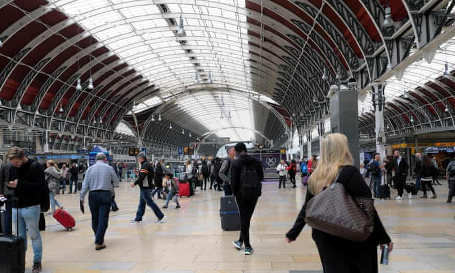 Paddington station in west London. Diesel trains mean nitrogen dioxide on the concourse is about twice the annual limits for outdoor air.