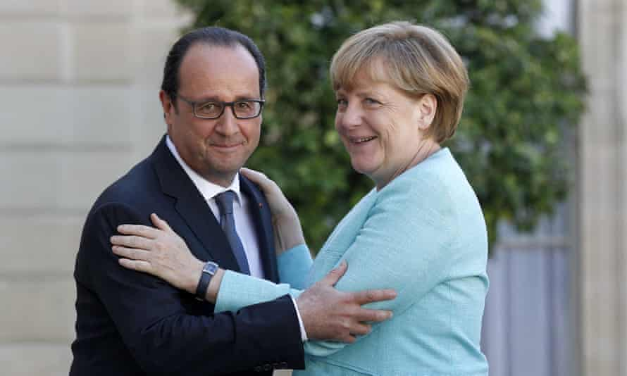 François Hollande and Angela Merkel at the Elysée Palace last month: France and Germany need to take the lead in getting the euro project back on track.