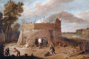"""A Lime Kiln With Figures, 17th century, David Teniers II (1610-1690),  English Heritage, the Wellington Collection, Apsley House"""