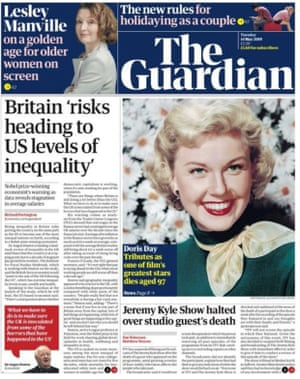 Guardian front page 14.05.19