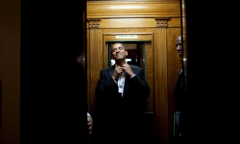Barack Obama inside the White House on this inauguration day in January 2009.