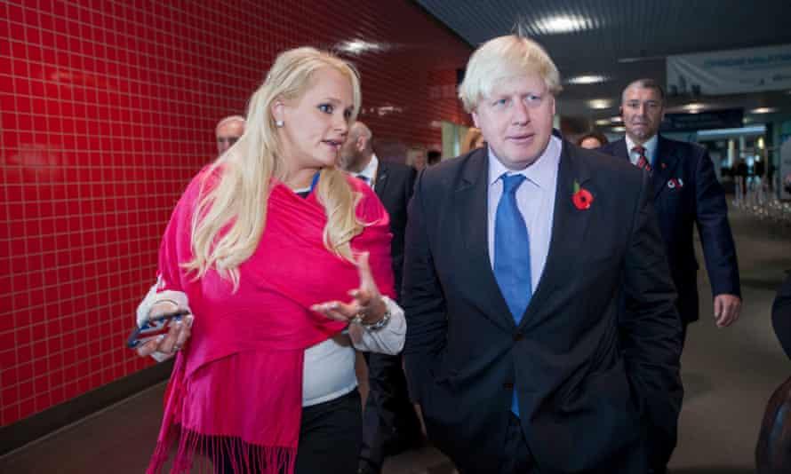 Jennifer Arcuri with Boris Johnson in 2013