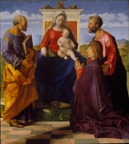 Art of an elder: Giovanni Bellini's Virgin and Child with Saint Peter, Saint Mark and a Donor