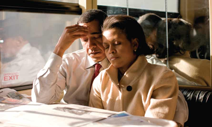 The Obamas on the 2008 campaign trail