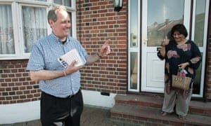 Conservative MP Bob Blackman on the campaign trail in East Harrow ahead of the 2015 election.