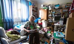 David Woods at his home in Edinburgh, Scotland.