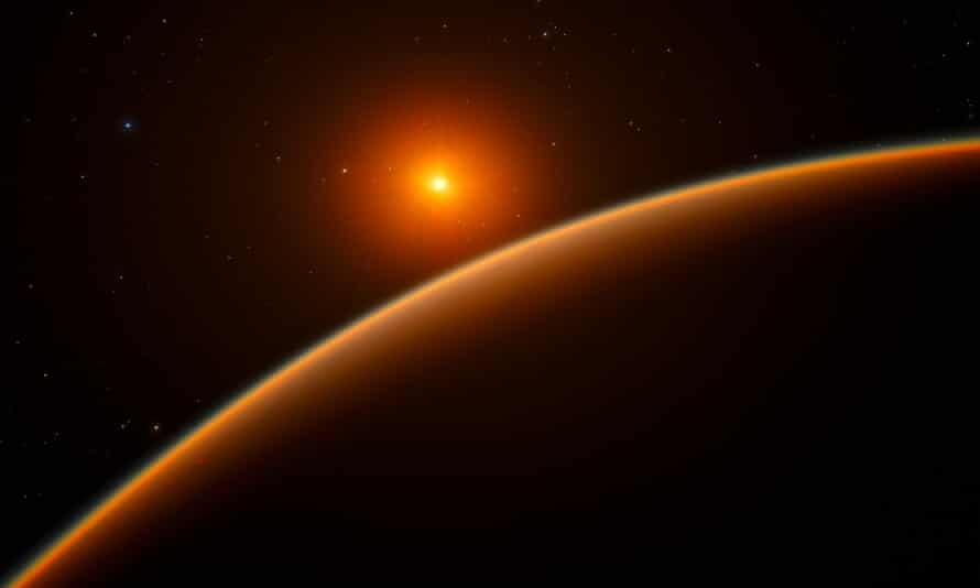An artist's impression of exoplanet LHS 1140b, described by Jason Dittmann at the Harvard-Smithsonian Center for Astrophysics as the most exciting he had seen in 10 years.