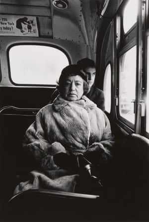 More subtle and strange than we imagine … Lady on a bus, NYC 1957 by Diane Arbus.
