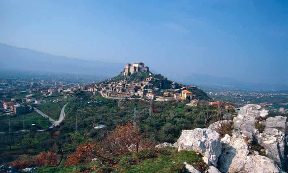View of Montesarchio, Campania, Italy.