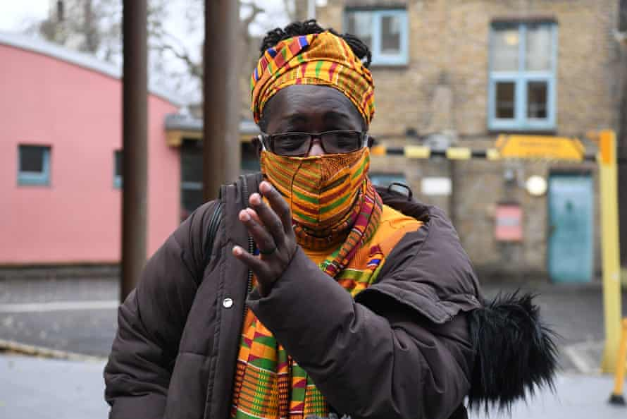 Rosamund Kissi-Debrah outside the court after the coroner's ruling.