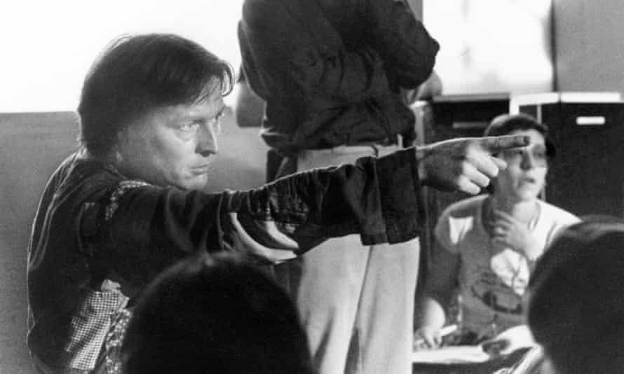 Alan Parker on the set of Fame.