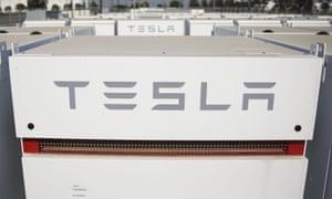 A Tesla battery farm.