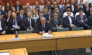 Sir Philip Green giving evidence to the Business, Innovation and Skills committee