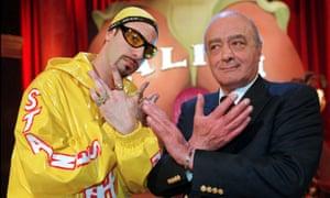 Ali G and Mohamed Al Fayed