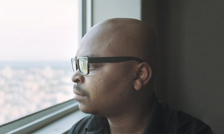 Tyrese Mhlakaza in Ponte City in Johannesburg.