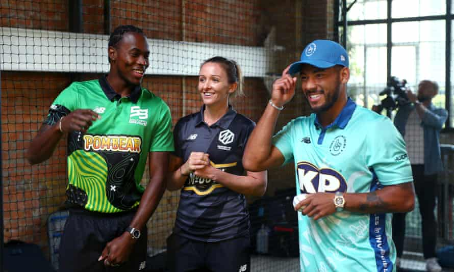 Jofra Archer (left) of Southern Brave, Kate Cross of Manchester Originals and Tymal Mills of Oval Invincibles will be competing in The Hundred.