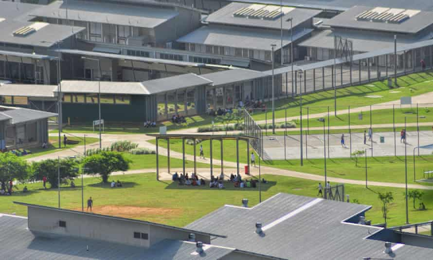 An aerial view of the Christmas Island immigration detention centre, taken in 2013.