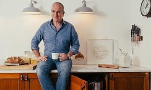 Richard Bertinet at home in his kitchen, Bath