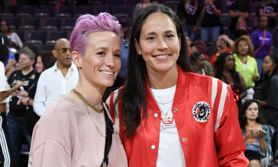 Megan Rapinoe (left) and Sue Bird have a formidable history of athletic achievement