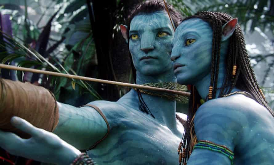 Sam Worthington and Zoe Saldana in Avatar.