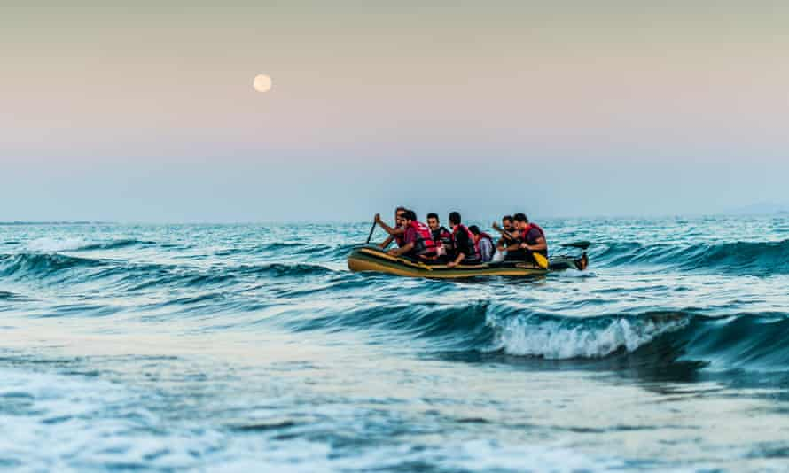 Refugees arrive on Kos island, Greece
