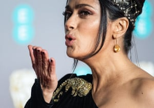 Salma Hayek at the Baftas.