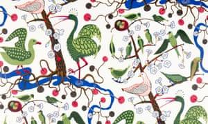 Josef Frank's Gröna Fåglar.
