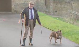 Off the leash … Freya with Anthony Hopkins filming Transformers: The Last Knight