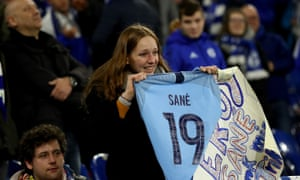 The lucky recipient of Sane's shirt.