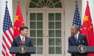 President of China Xi Jinping, left, did not see entirely eye to eye on cybersecurity with President Barack Obama.
