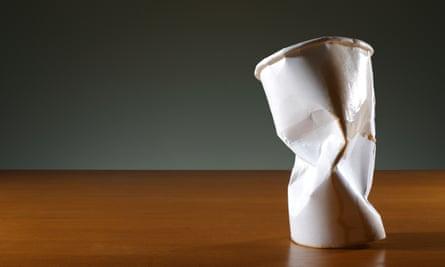 Crumpled paper cup