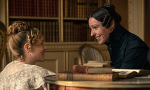 As Anne Lister (right) in forthcoming show Gentleman Jack.
