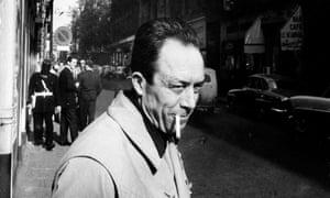 Albert Camus smoking cigarette