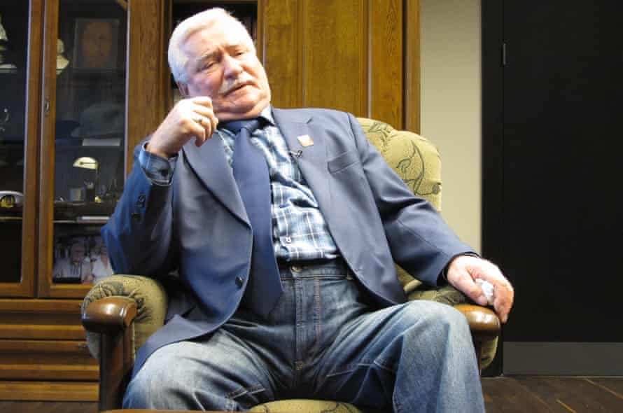 Lech Wałęsa, 72, in his office in Gdansk on 4 March 2016
