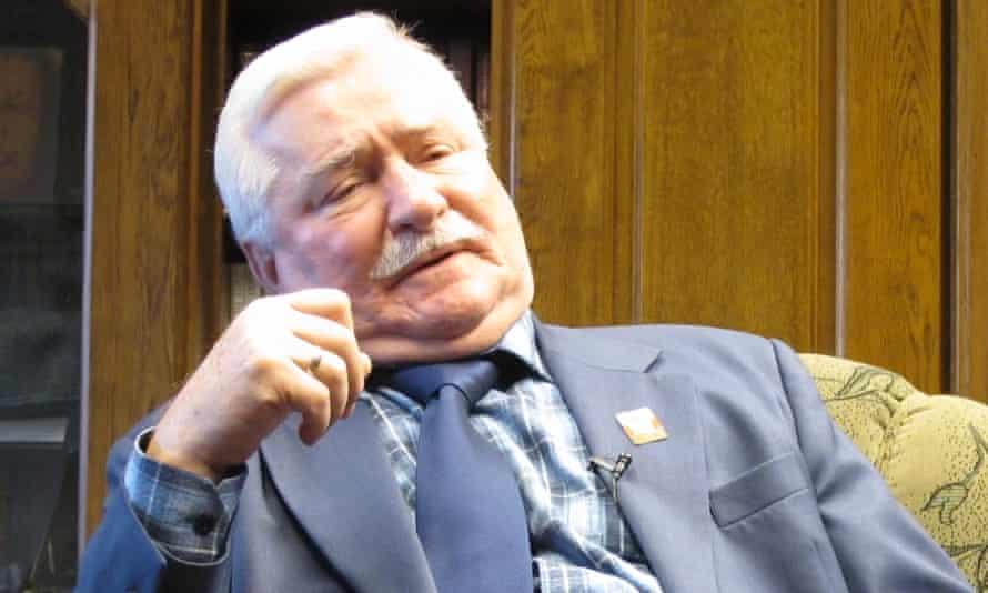Lech Wałęsa in his office in Gdańsk