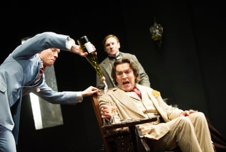 Padded … as Oscar Wilde with Freddie Fox in The Judas Kiss by David Hare in 2013.