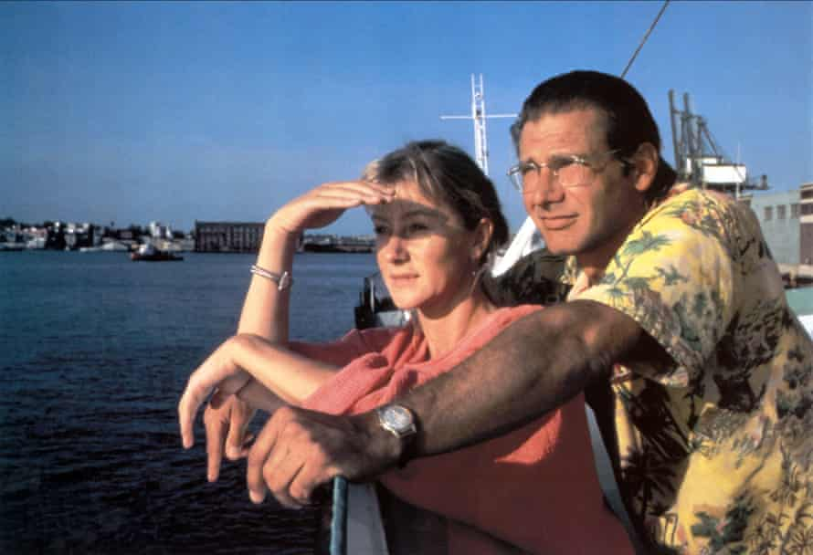 With Harrison Ford in The Mosquito Coast.