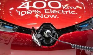 A Renault Zoe electric car at Geneva motor show