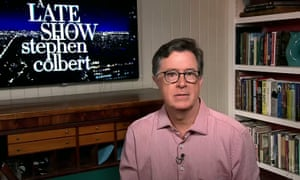 """Stephen Colbert: """"Here's the thing: Trump doesn't want everything to go back to normal because we're ready for it to go back to normal. He wants everything to go back to normal because he's bored."""""""